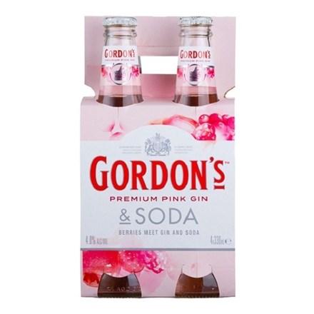 GORDON'S PINK 4 PK BTLS GORDON PINK 4 PK BTLS
