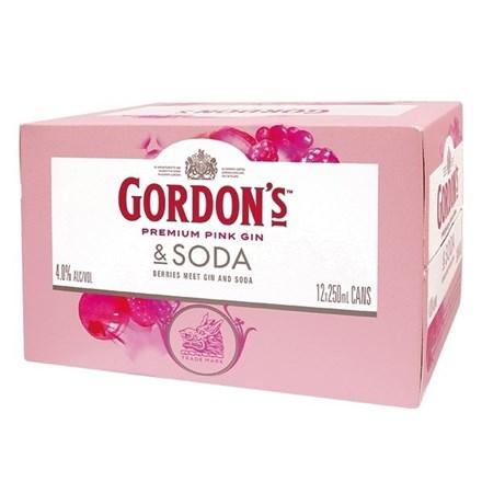 GORDON'S PINK 12PK CANS GORDON'S PINK 12PK CANS